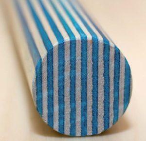 Griffstange weiß-blau